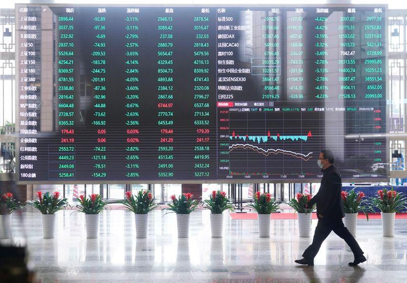 Ações da China fecham em queda com preocupações sobre setor imobiliário e realização de lucros