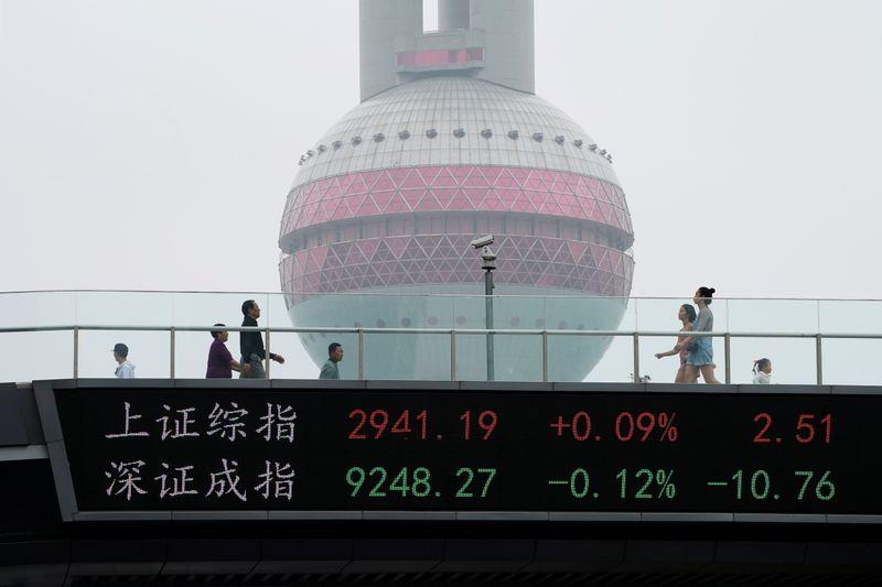 Ações blue-chips da China têm 3° ganho mensal seguido após dados positivos e apoio de política monetária