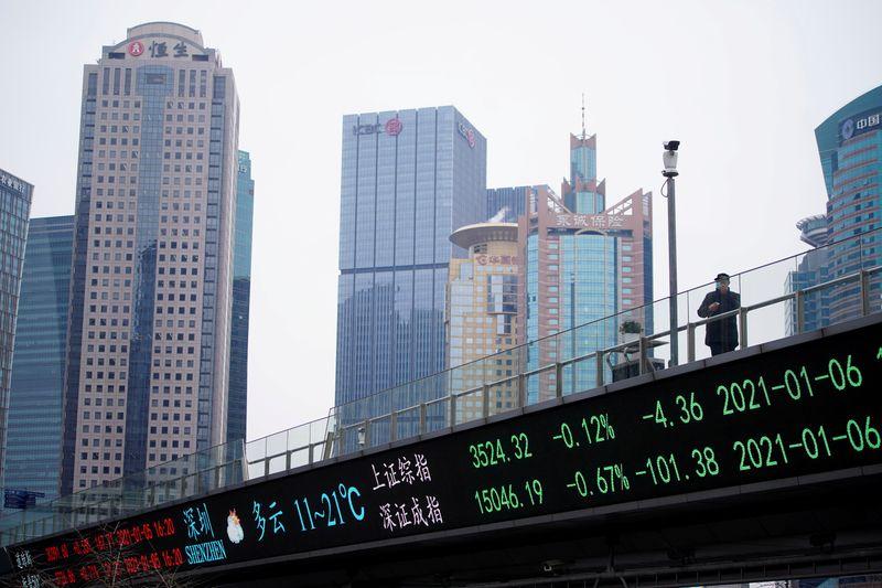 Índice de blue-chips da China recua de máxima recorde com preocupação de aperto  monetário