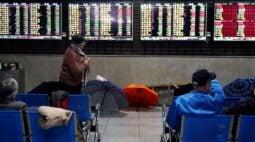 Ações da China recuam após manutenção da taxa de empréstimo de referência