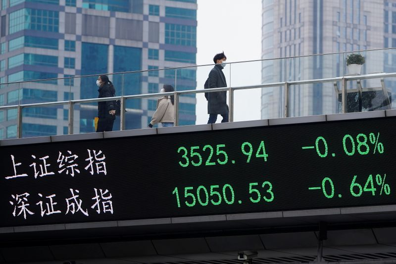 """Índice CSI300 da China fecha em baixa após postura """"hawkish"""" do Fed"""