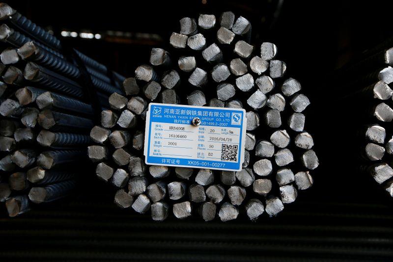 Aço engata 7ª sessão de ganhos em Xangai; minério de ferro também sobe