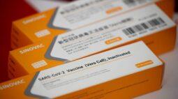 Brasil recebe 1 milhão de doses da CoronaVac