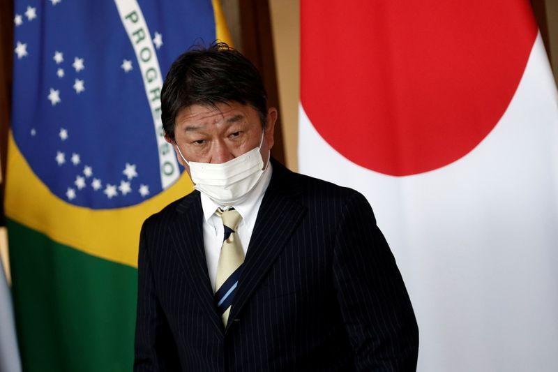 Bolsonaro recebe visita de chanceler japonês e recebe convite para abertura da Olimpíada