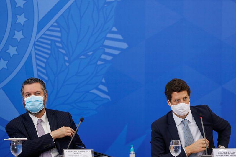 Araújo e Salles discutem combate ao desmatamento com enviado dos EUA para clima