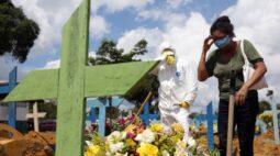 Brasil bate novo recorde de mortes por Covid-19 em um dia com mais 1.910 óbitos