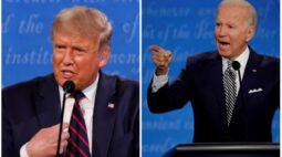 Audiência televisiva para debate entre Trump e Biden é menor do que recorde de 2016