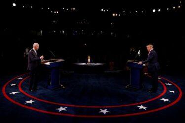 Dados iniciais mostram audiência menor em segundo debate Trump-Biden