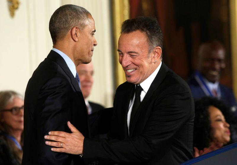 Barack Obama e Bruce Springsteen formam parceria em novo podcast do Spotify