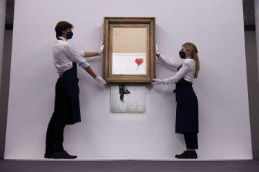 Quadro de Banksy triturado é vendido por US$25,4 milhões em leilão