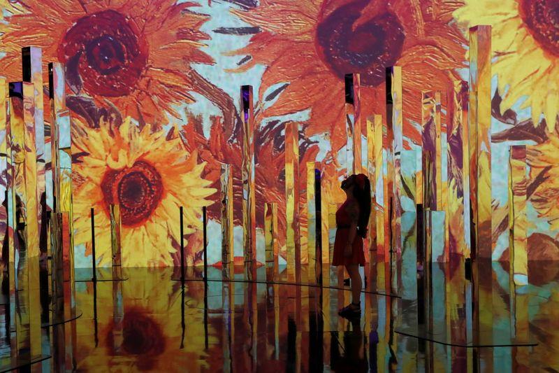 """""""É magico"""": exposição """"Van Gogh Imersivo"""" deslumbra visitantes"""