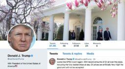 Twitter coloca aviso em publicação de Trump sobre votação pelo correio