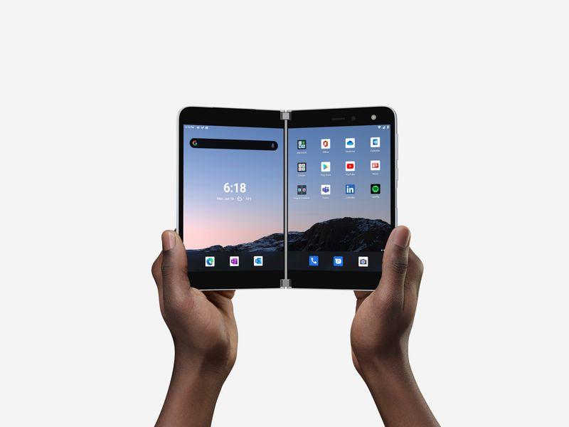 Microsoft lançará smartphone de tela dupla a US.399