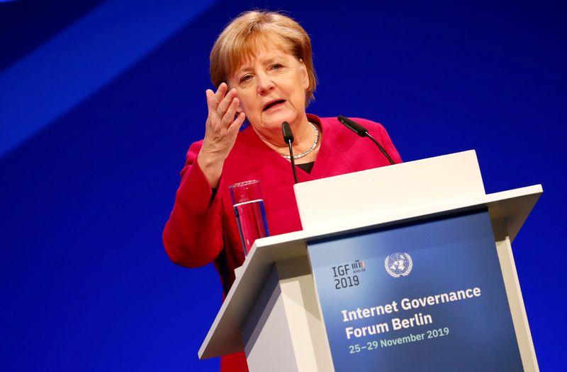 Merkel quer acelerar com Biden discussão sobre tributação de gigantes da internet