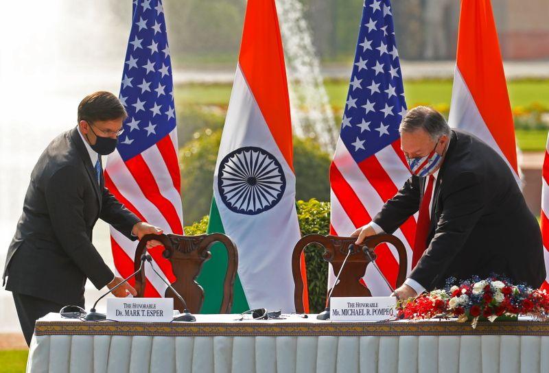 EUA alertam para ameaça da China e firmam pacto militar com Índia