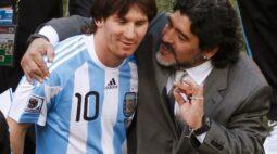 """""""Nos deixa, mas não se vai, porque Diego é eterno"""", diz Messi após morte de Maradona"""