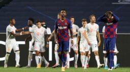 Bayern massacra Barcelona por 8 x 2 e se classifica à semifinal da Liga dos Campeões