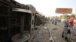 Descarrilamento de trem no Egito deixa 11 mortos e 98 feridos