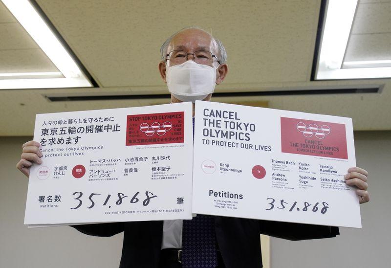 Críticos da Olimpíada de Tóquio apresentam petição solicitando cancelamento