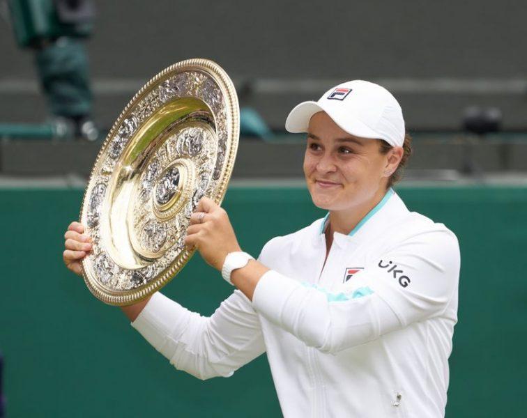 Barty encerra longa espera australiana por título feminino em Wimbledon