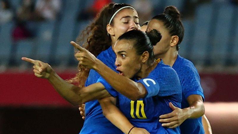 Brasil e Holanda empatam em 3 x 3 no futebol feminino e se aproximam de vaga nas quartas