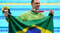 Natação do Brasil ganha bronze com Fernando Scheffer nos 200m livre
