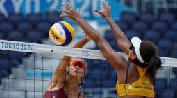 Ana Patricia e Rebecca são derrotadas no vôlei de praia e decidirão vaga contra EUA