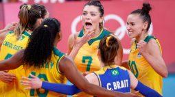Brasil vence Rússia por 3 sets a 1 e vai à semi no vôlei feminino em Tóquio