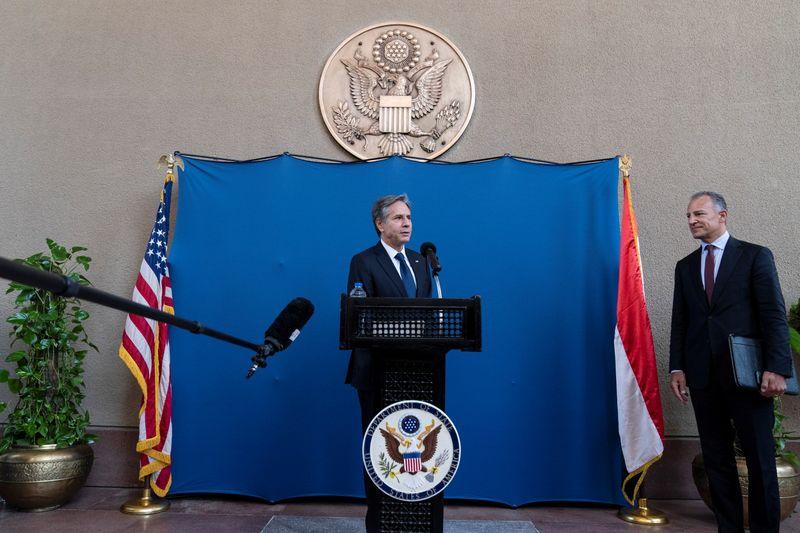 Blinken se encontra com presidente do Egito para fortalecer cessar-fogo em Gaza