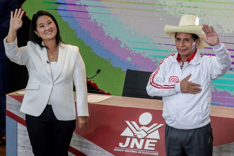 Empatados nas pesquisas, Fujimori e Castillo se enfrentam em debate presidencial no Peru