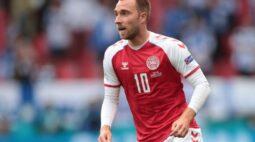 Eriksen tem condição estável após parada cardíaca durante jogo da Euro