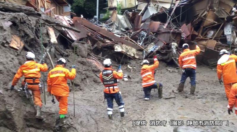 Oitenta pessoas continuam desaparecidas após deslizamentos de terra no Japão