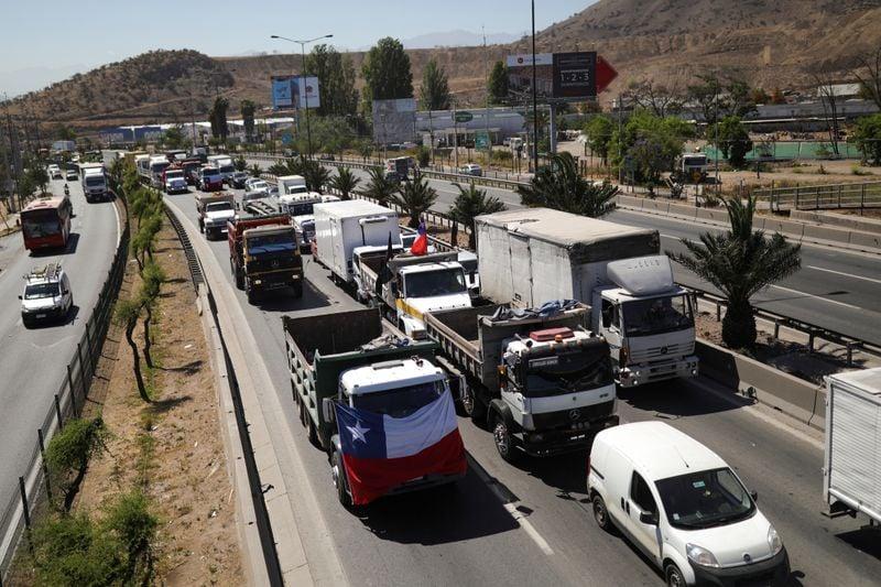 Caminhoneiros do Chile iniciam greve devido a insegurança no sul de Araucanía