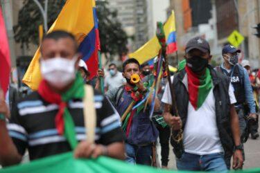 """""""Nem a pandemia"""" deterá protestos na Colômbia, dizem líderes de atos"""