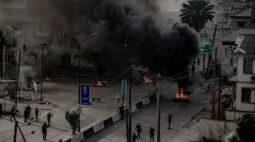 Prédios são incendiados e bandos armados atuam em Lagos apesar de apelo de presidente