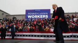 Trump faz campanha na Pensilvânia em busca de votos em Estado decisivo