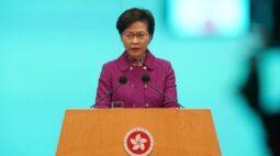 """Líder de Hong Kong diz que restaurar """"sistema político do caos"""" é prioridade"""