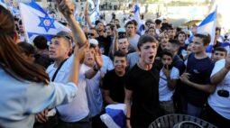 Nacionalistas israelenses marcham em Jerusalém e aumentam tensões com palestinos